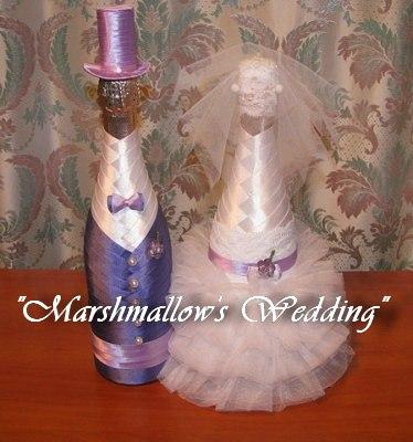 Как украсить свадебные бутылки своими руками инструкция
